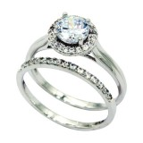 925 Sterling Silver & CZ Ring 6