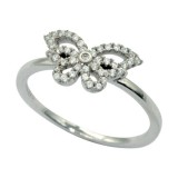 925 Sterling Silver & CZ Ring 19