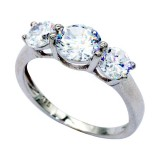 925 Sterling Silver & CZ Ring 7
