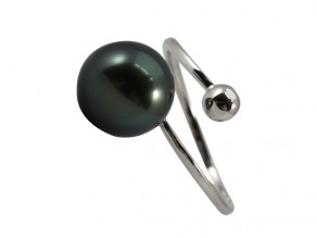 South Sea Black Pearls & CZ